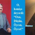 Görkəmli ziyalı Elman İslam oğlu Əliyevin vəfatından 5 il keçir…